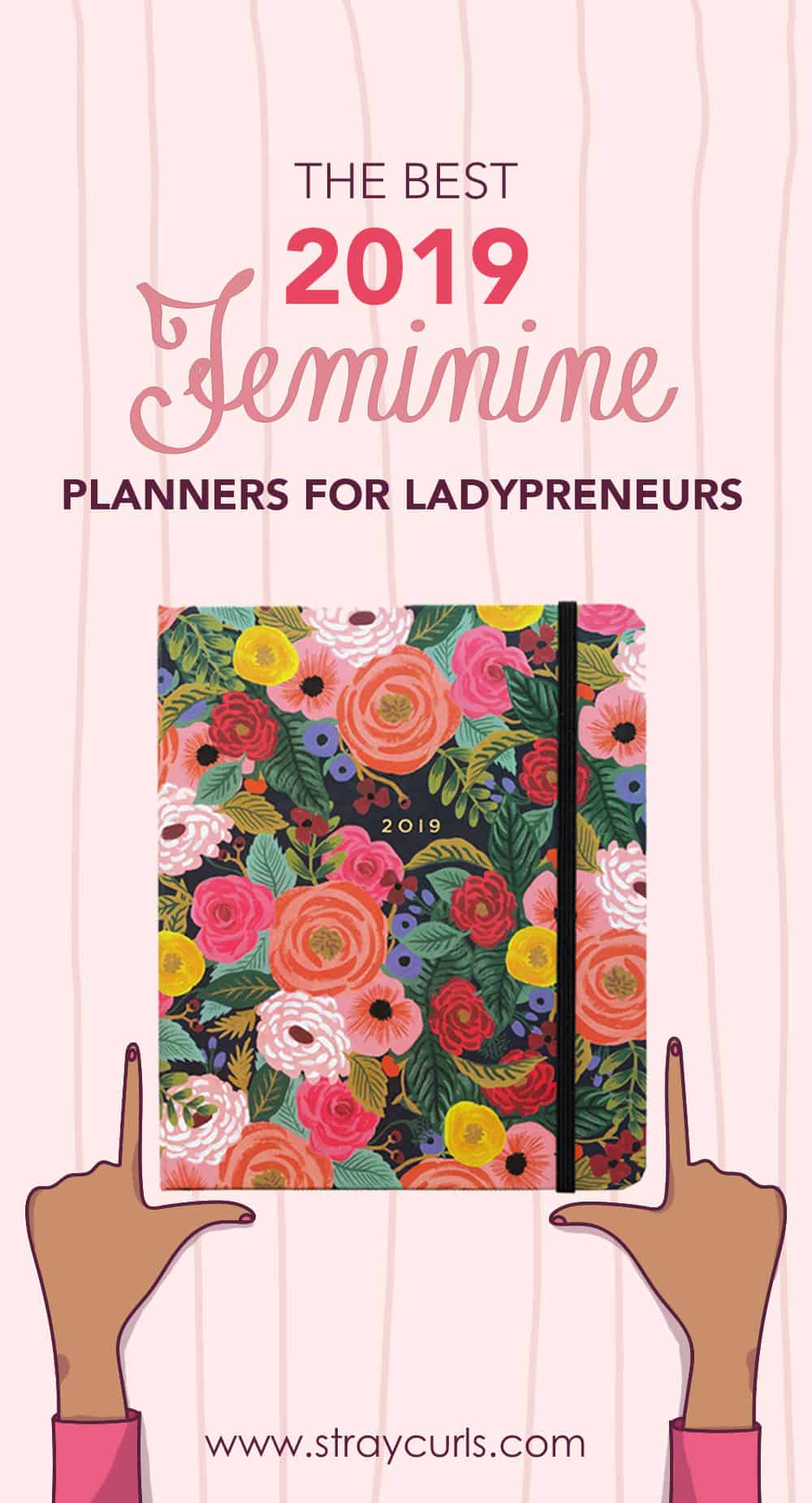 Read this amazing review of the best 2019 planners for bloggers, freelances and ladypreneurs. Each planner is a yearly planner where you can write your to-dos and notes. Perfect for blogging.