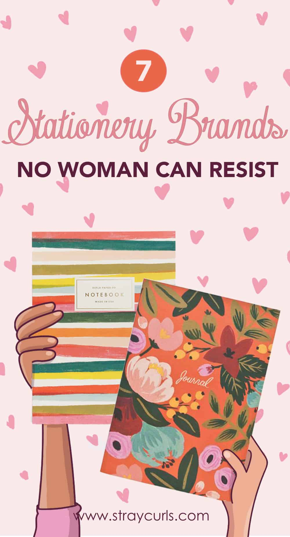 7 Online feminine and pretty stationery shops that creates notebooks, planners, pens and more for girls all over the world. If you're a stationery lover, then this post is your dream destination for cute Stationery featuring Ban Do, Rifle Co, Orange Circle Studio and more.