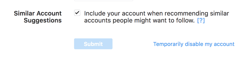 Include your account when reccommending similar accounts on Instagram