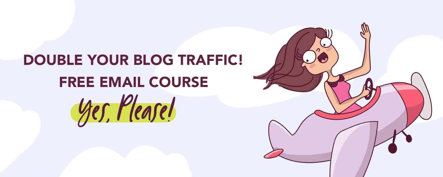 Grow your blog traffic with this lovely free 5 day email course that will teach you how to double your blog traffic and automatically grow your blog!