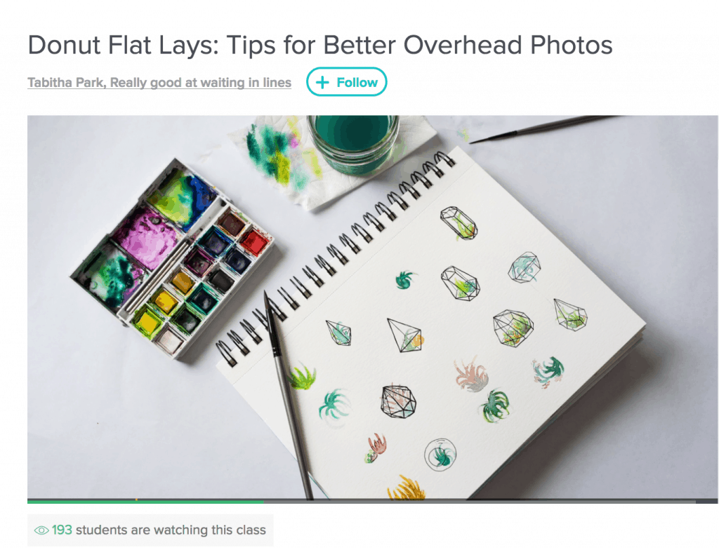 Learn how to take better photos on Instagram of your sketches or paintings.