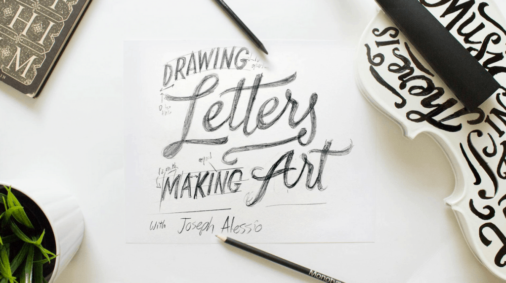 Drawing Letters making Art