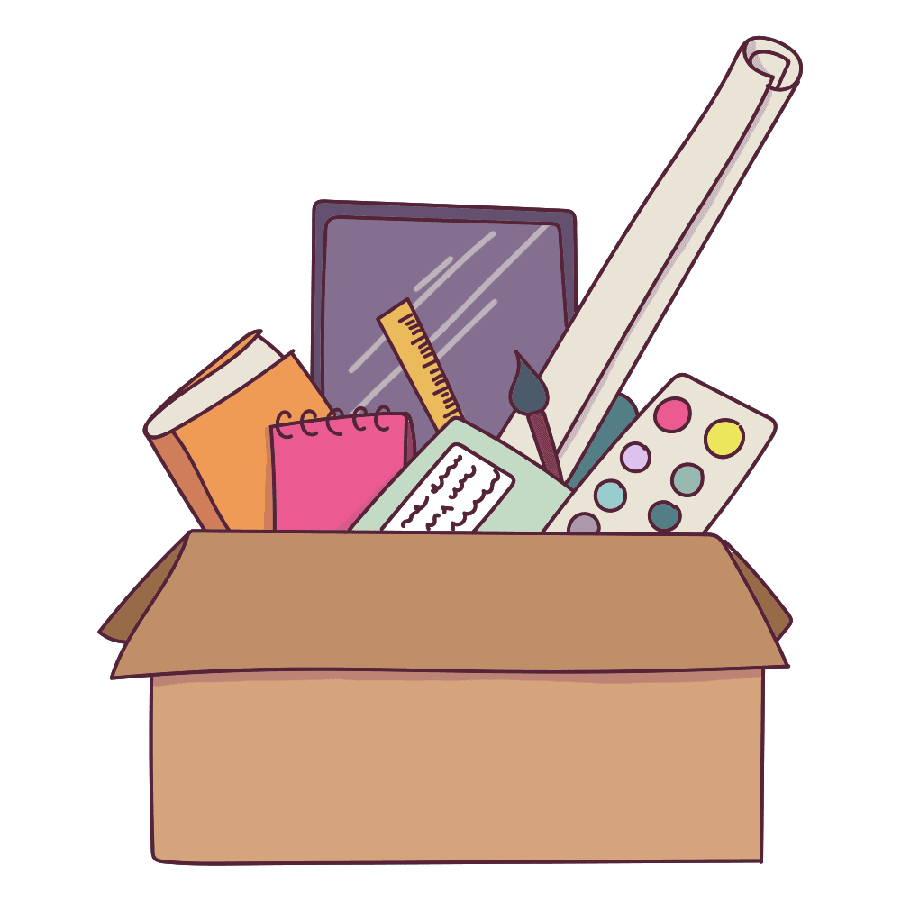 Organize your stuff. It will really help you beat that nasty creative block.