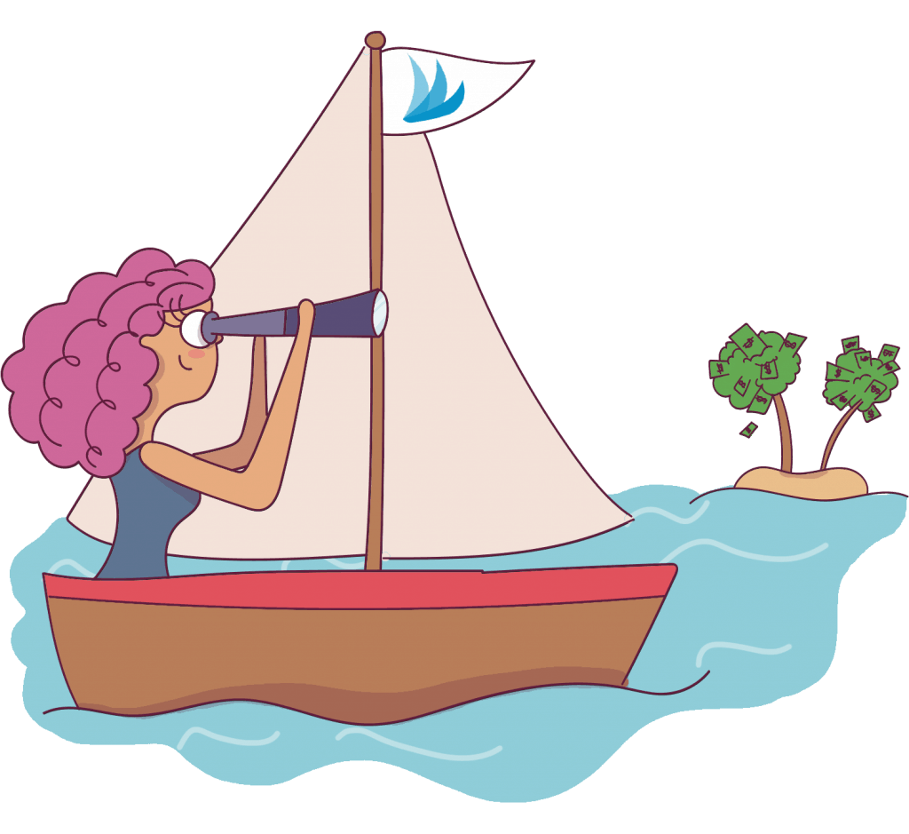 Using Tailwind will help increase your blog traffic and inturn increase your blog income. Therefore Tailwind is like a sailboat that helps you get to your island of money!