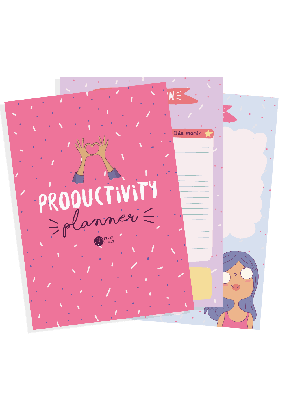 Get this delightful Productivity Planner to boost your productivity and make working on your Blog more fun!
