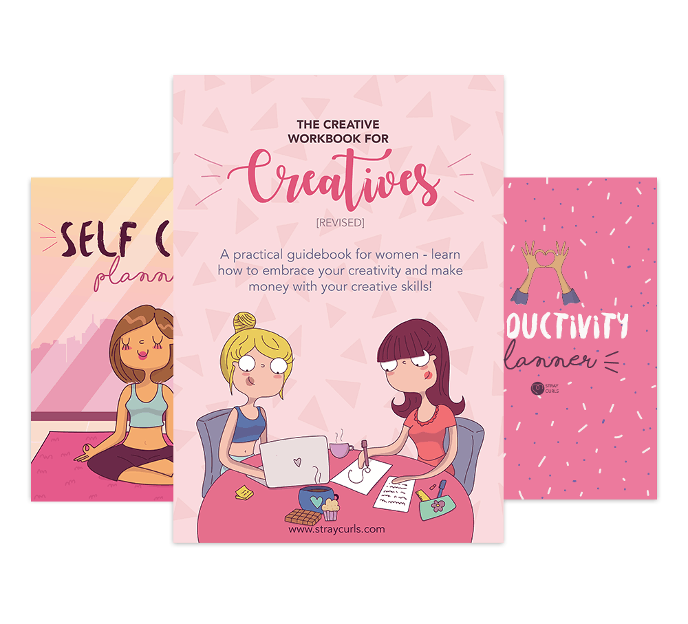 The Creativity Bundle is the Ultimate Resource for Creative People. It includes the Creative Workbook, the Productivity Planner and the Self Care Planner.