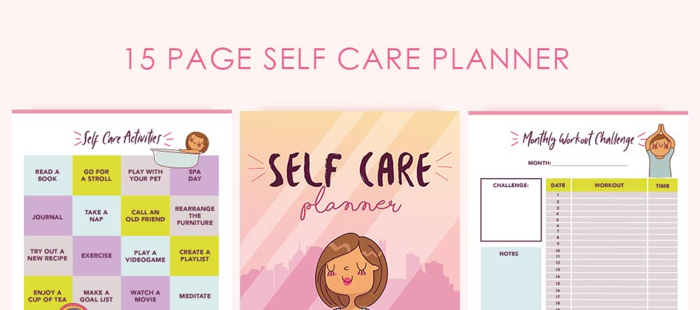 This cute printable self care planner is the only printable you need to become better at self care and grow your mind, body and spirit together.