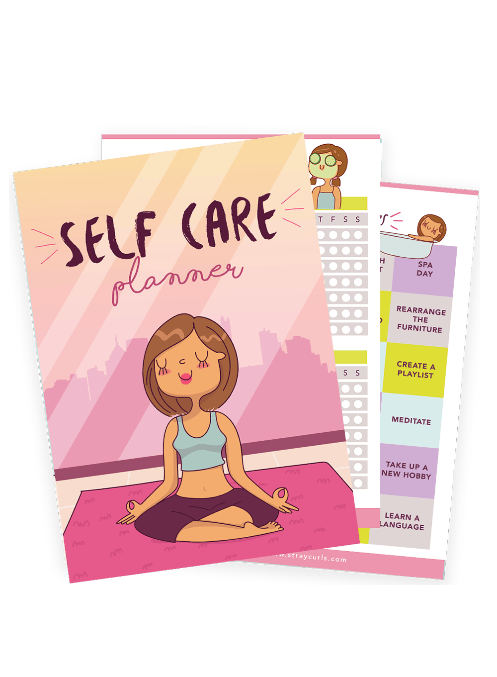 The Ultimate Self Care Planner to help you become a better version of you! Includes a meal tracker, period tracker, and loads of self care tips!
