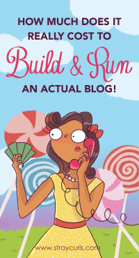 How much does it really cost to build and run a blog. This blog post will break down all your yearly and monthly experiences. If you are a new blogger and want to start a blog or earn money blogging, then you should definitely read this post! #blog #startablog #blogging #bloggingtips #earnmoneyblogging