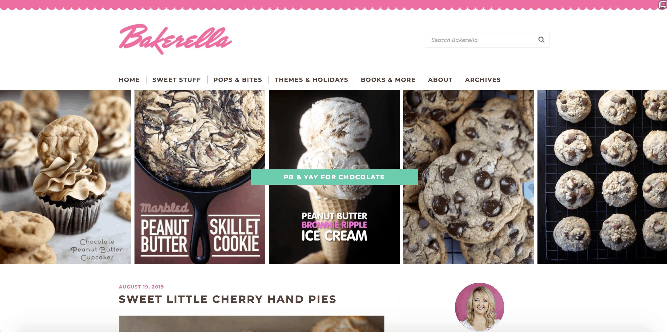 Food Blogs like Bakerella make a lot of money via ads and affiliate marketing.