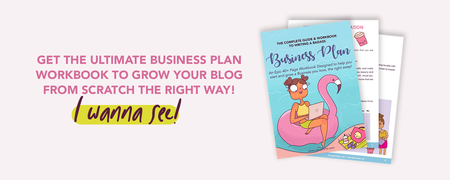 Want a cute Business Plan to help you start and grow a blog from scratch the right way? I got you covered! #blog #business #bloggintips #printable #cuteprintable