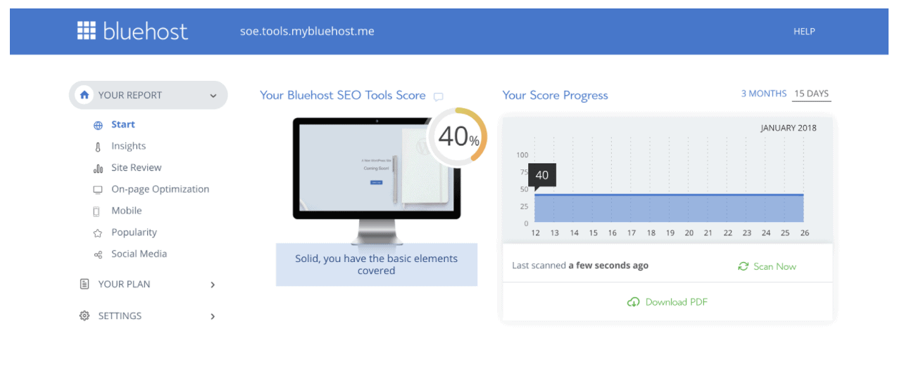 Bluehost provides you with amazing SEO tools that you can use to grow your organic traffic!