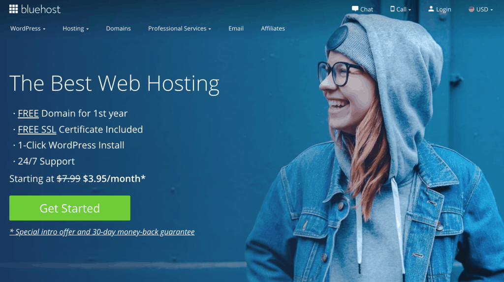 Get started with Bluehost now