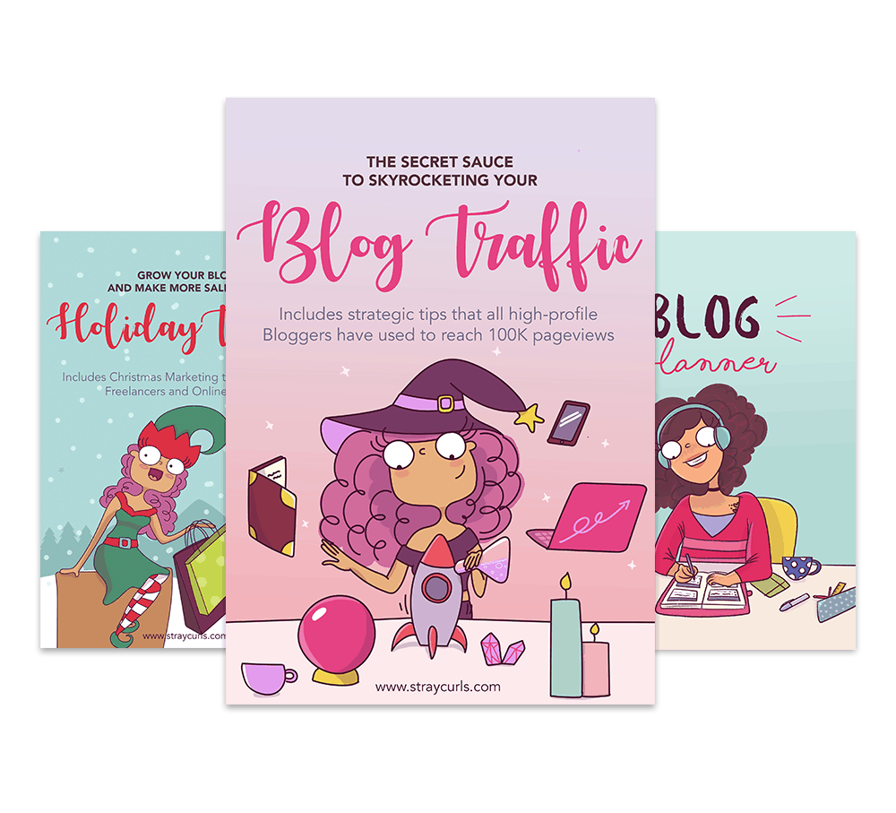 The Blogging Bundle contains the blog traffic eBook, the Holiday Traffic eBook and the Blog Planner!