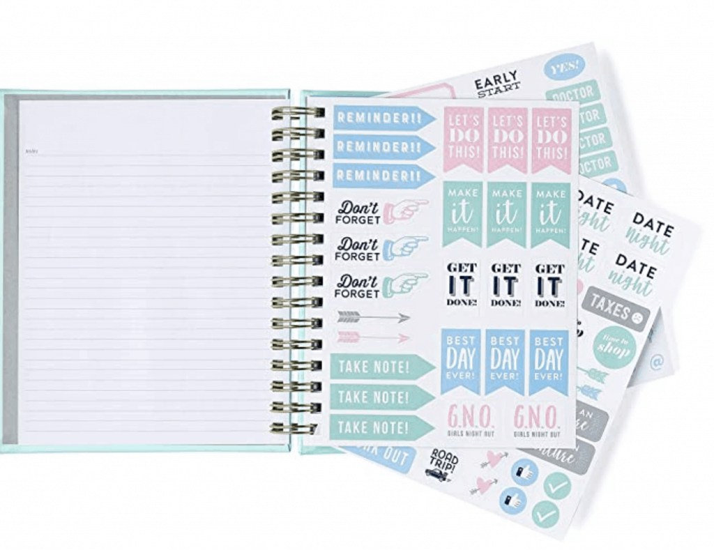 This Dog Planner comes with lots of stickers.