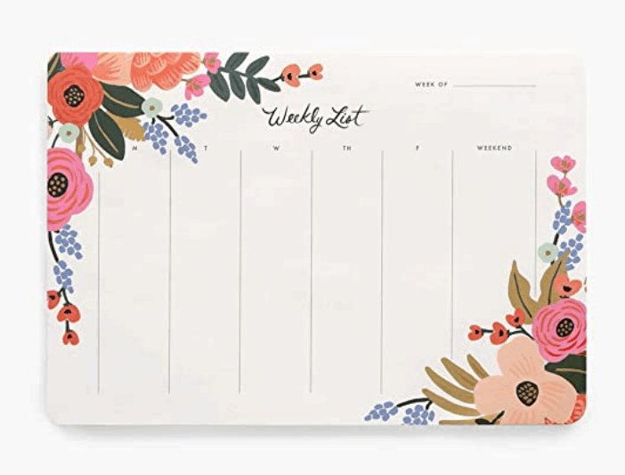 Rifle Paper Co Weekly Desk Pad