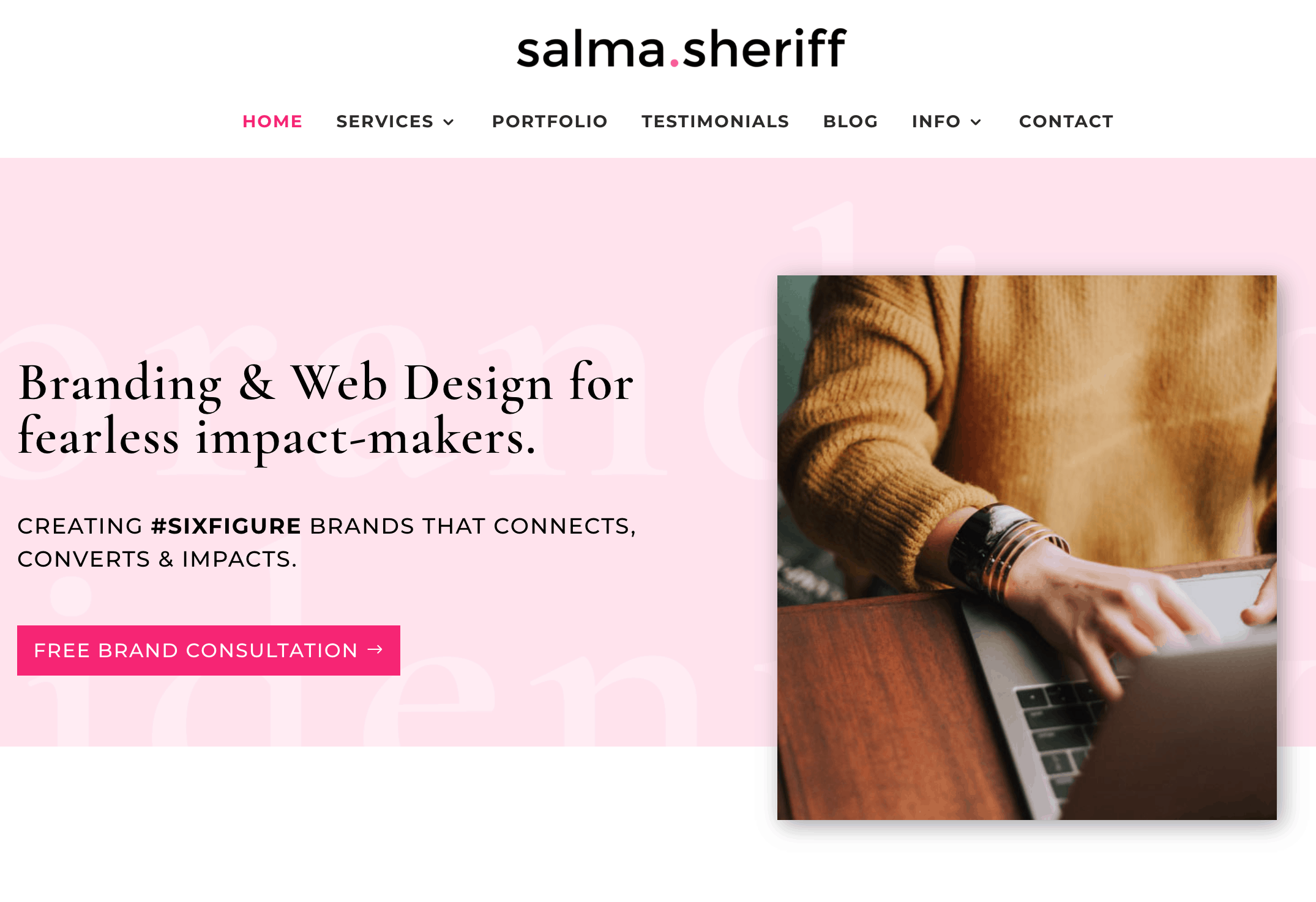 Salma uses her blog to gain clients