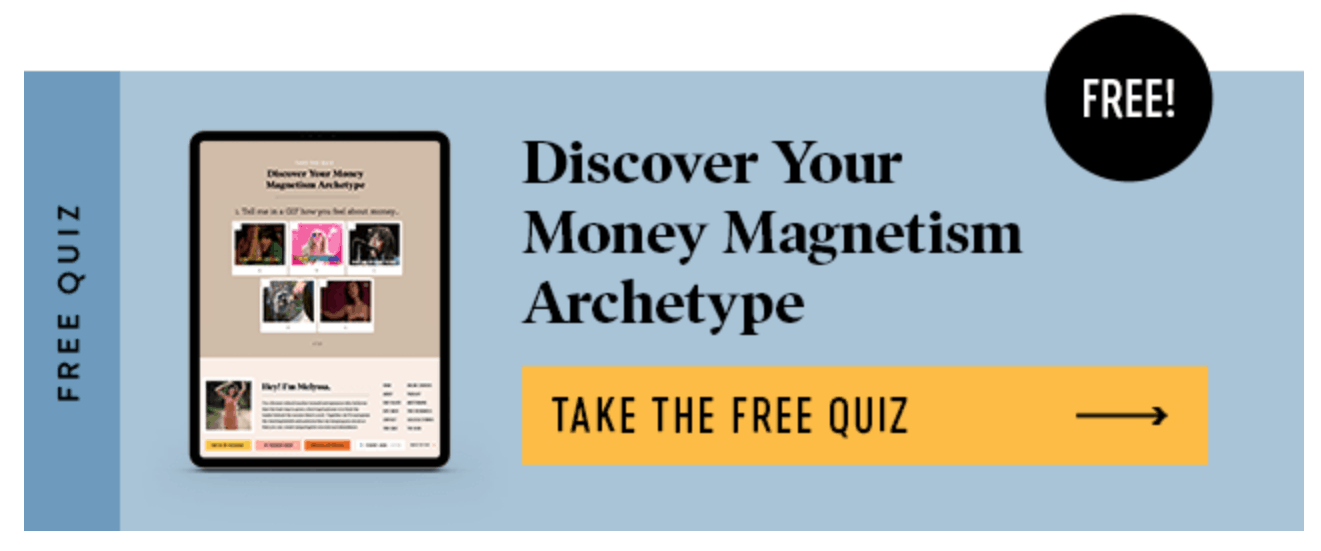 You can use a nice horizontal banner to get people to click to your lead magnet.