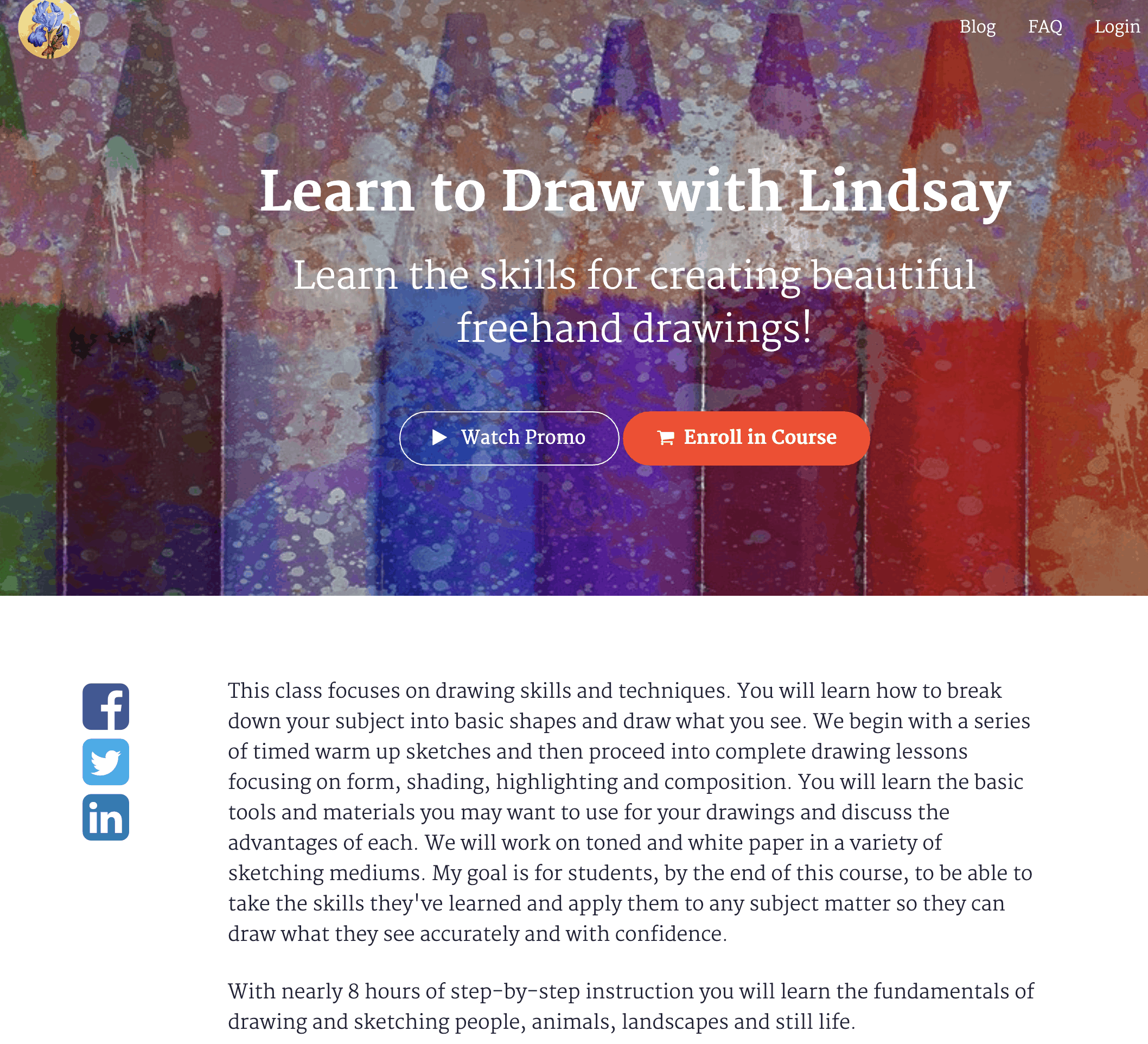 Lindsay teaches realistic pencil sketching