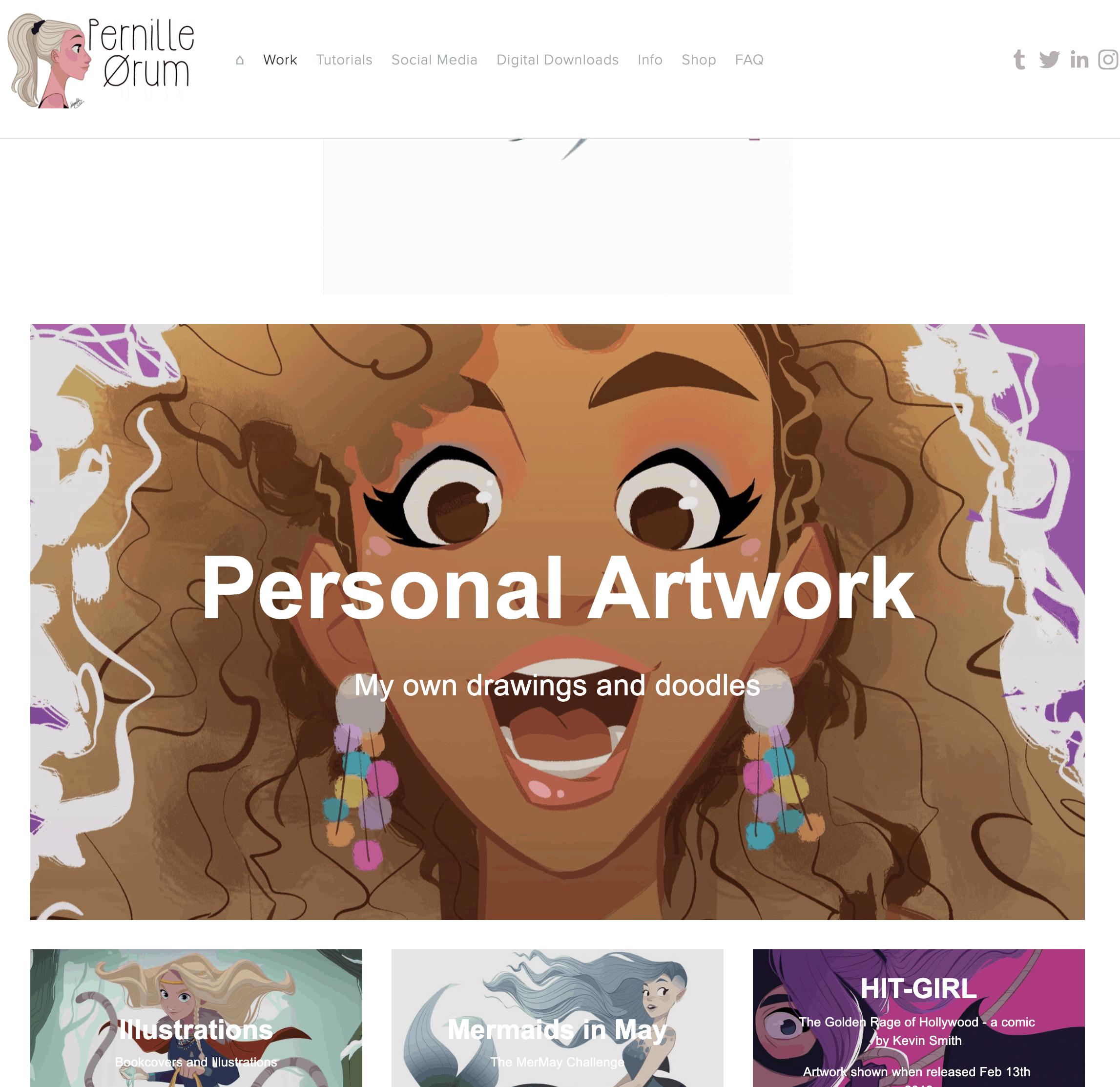 Pernille's Website