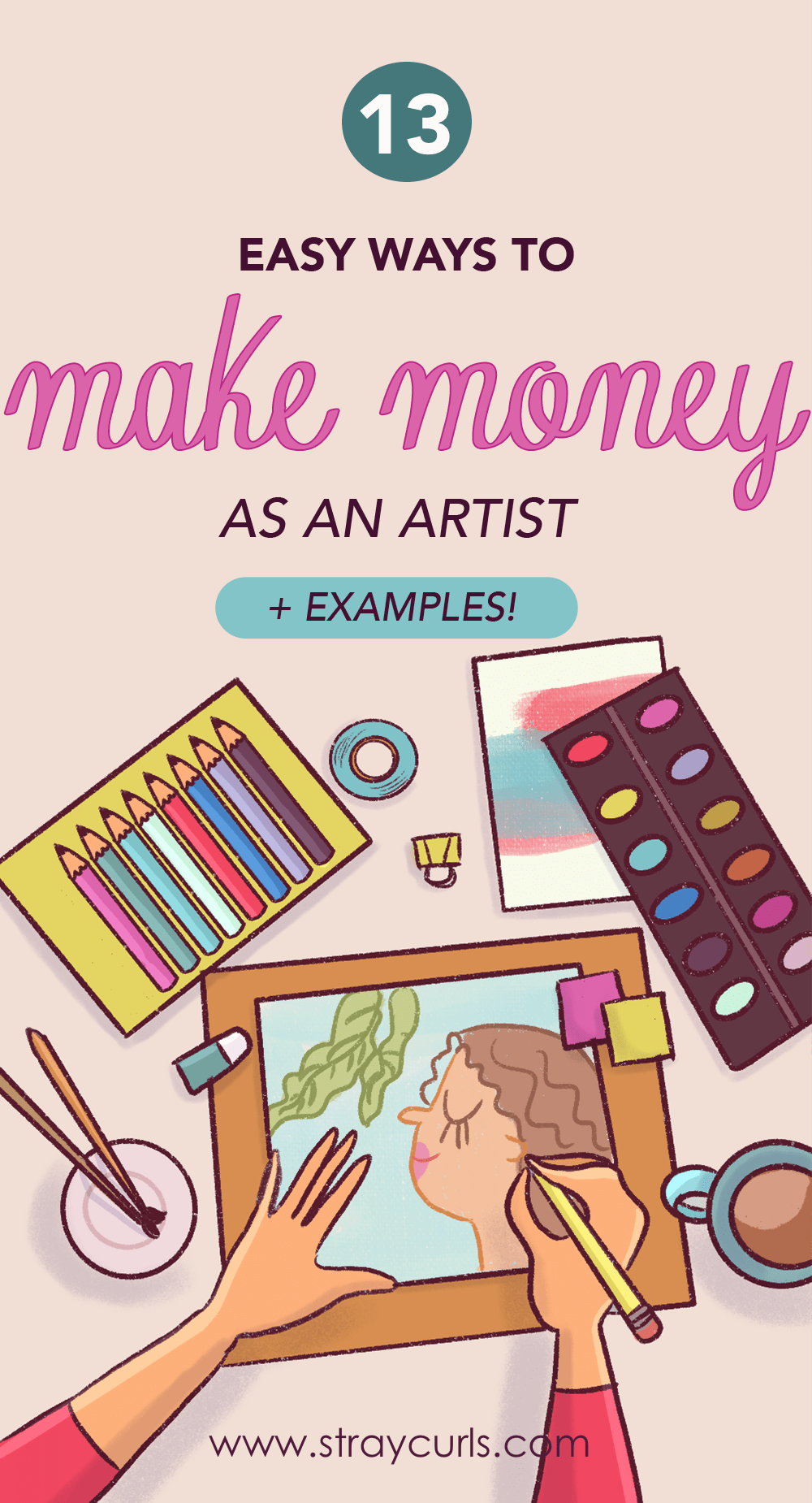 This post includes several ways to make money as an artist. I've also included examples of other artists and how they make money with their art.