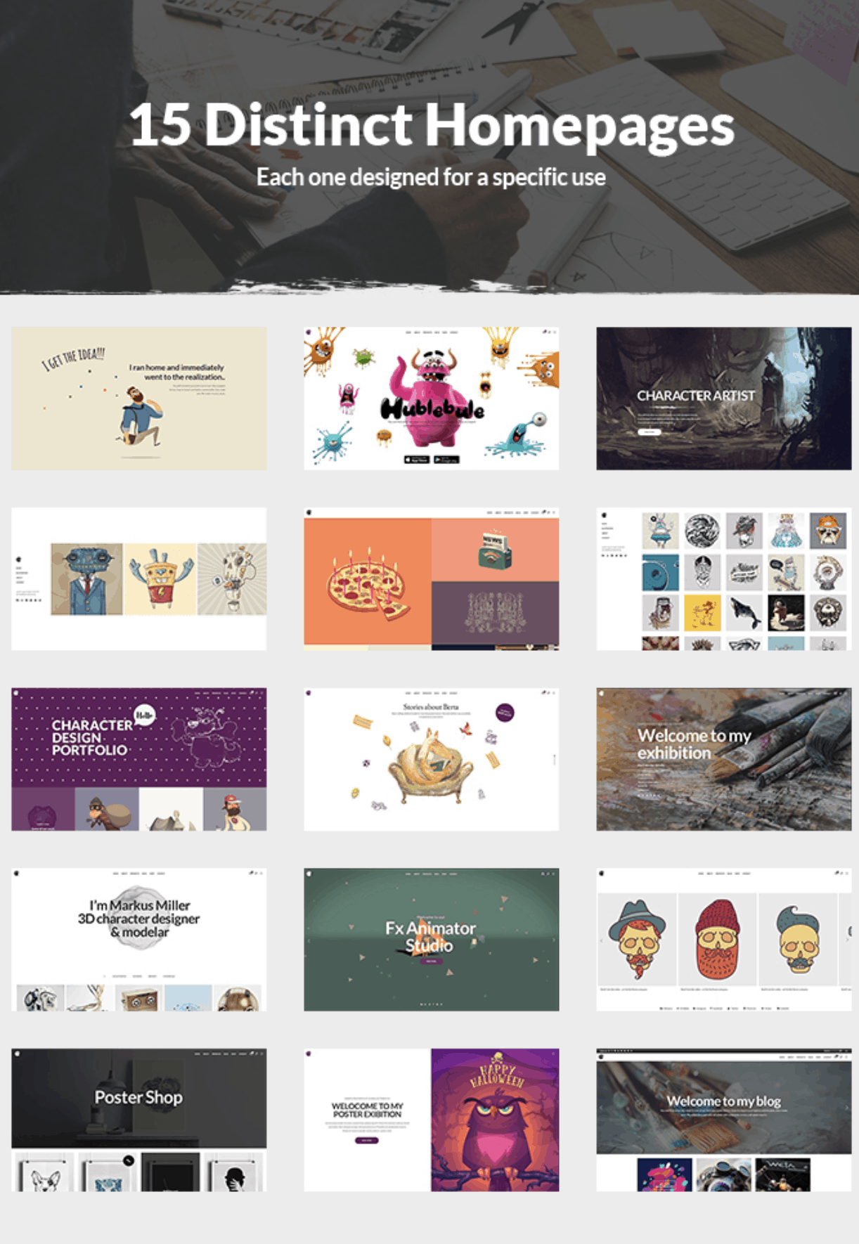 This is one of the best WordPress themes for Artists