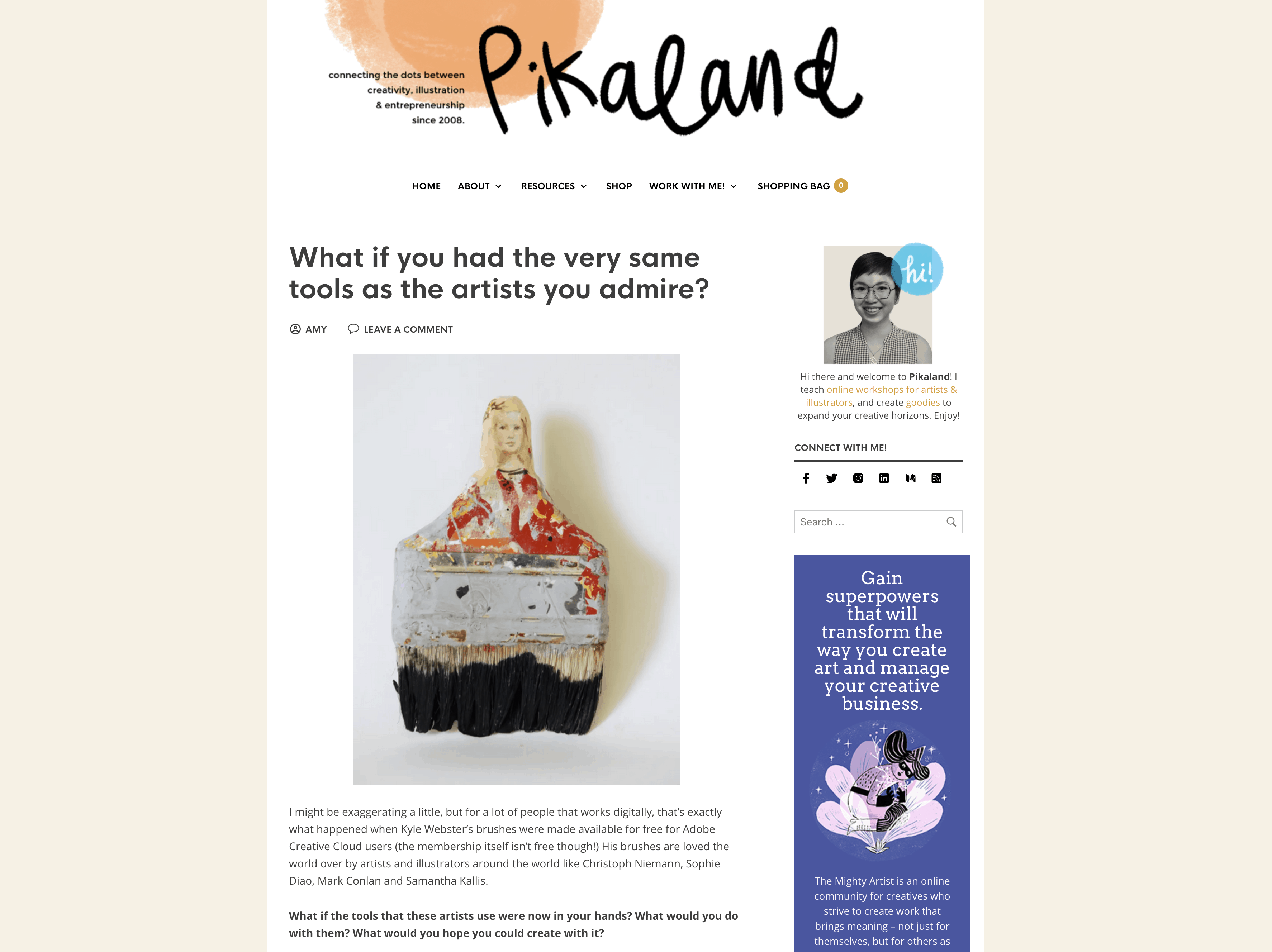 Pikaland is a lovely blog dedicated to helping other artists