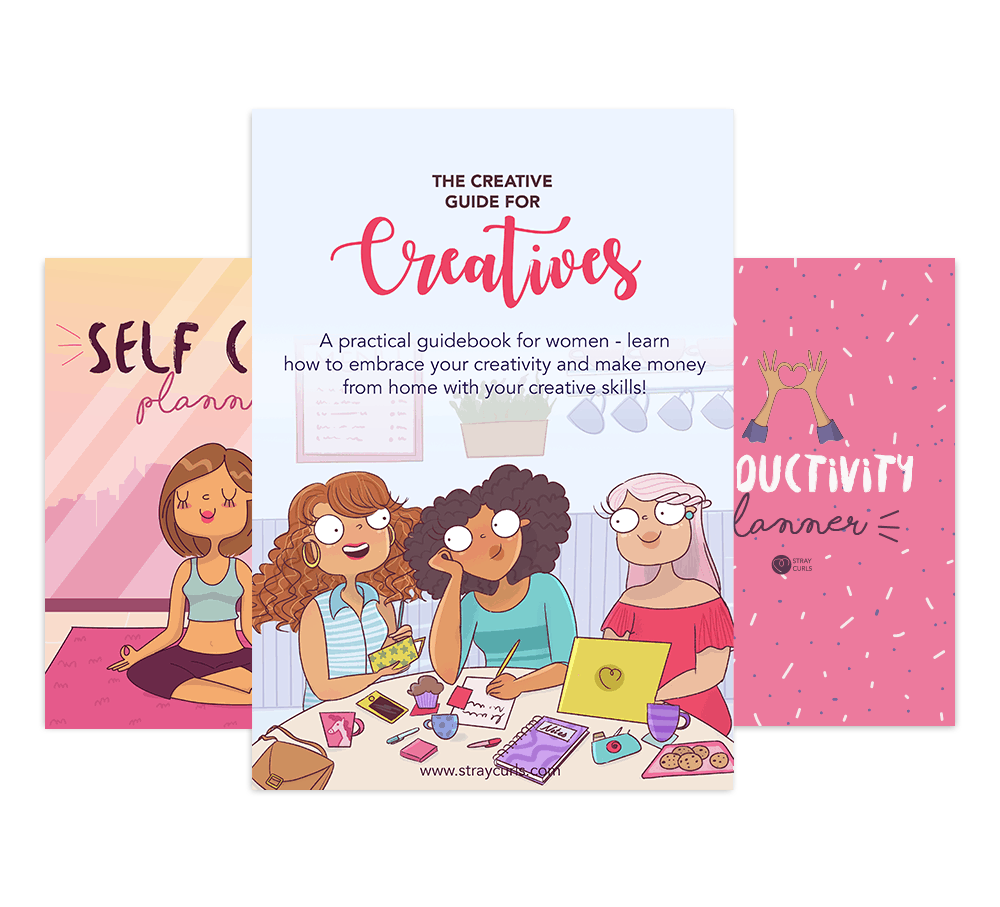 The creative bundle includes the creative guide, the productivity planner and the self care planner!