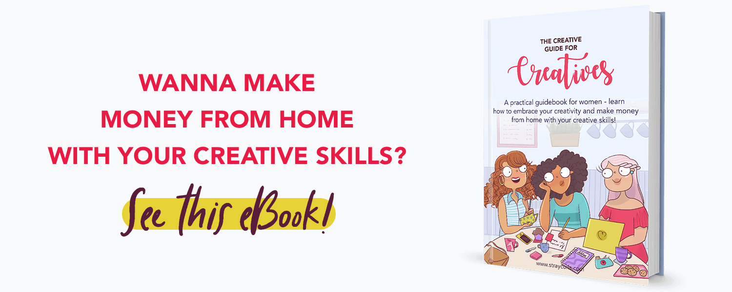 Make money from home using your creative skills. This creative guide for creatives is the best ebook for creative people who want to earn while working from home. Formerly known as the creative workbook for creatives.
